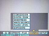 Sony DSC-S70 Einstellung für den Weißabgleich im On-Screen-Menü - Bild 2 von 4 [Foto: MediaNord]