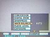 Sony DSC-S70 Einstellung für den Weißabgleich im On-Screen-Menü - Bild 3 von 4 [Foto: MediaNord]