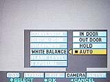 Sony DSC-S70 Einstellung für den Weißabgleich im On-Screen-Menü - Bild 4 von 4 [Foto: MediaNord]