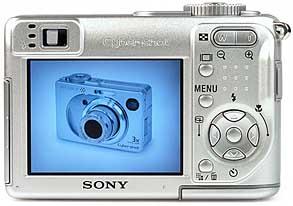 Sony DSC-W1- Rückansicht [Foto: MediaNord]