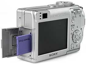 Sony DSC-W1- Speicherplatz [Foto: MediaNord]