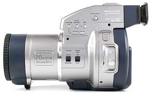 Sony Mavica MVC-CD1000 linke Kameraseite [Foto: MediaNord]