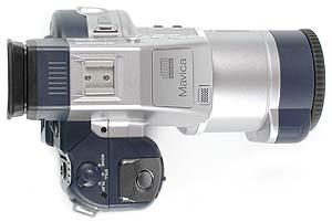 Sony Mavica MVC-CD1000 Oberseite [Foto: MediaNord]