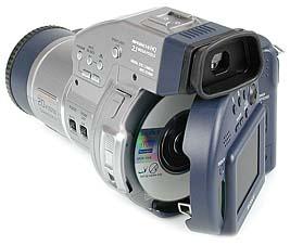 Sony Mavica MVC-CD1000 mit geöffneter Rückseite und eingelegter CD-R [Foto: MediaNord]