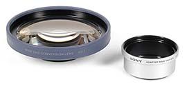 Sony Weitwinkeladapter VCL-MHG07 und Vorsatzlinsenadapter VAD-S70 für Sony DSC-S70 [Foto: MediaNord]