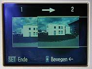 Canon A50, Monitoranzeige im Panoramamodus