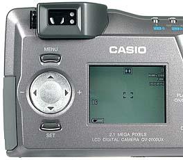 Casio QV-2000UX/Ir Detail Rückseite (Foto: MediaNord)