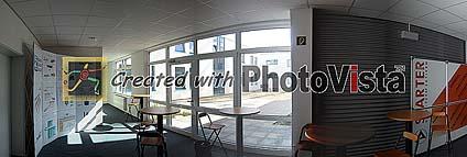 Beispielbild: Fensterfront richtig belichtet, Raum zu dunkel