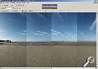 Bild1: Erweiterte Einzelbilder im Stitcher-Programm [Screenshot: MediaNord]