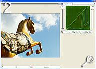Bildoptimierungen mittels Gradationskurven [Screenshot: MediaNord]