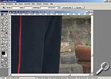 Ausschnitt - Bildrauschen in dunklen Bildbereichen [Foto: MediaNord]