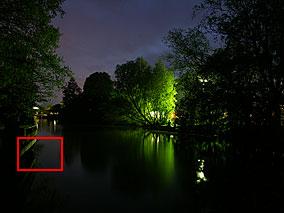 Langzeitbelichtung mit einer Minolta A2 - trotz Darkframe-Subtraktion sind ein paar Hotpixel sichtbar [Foto: MediaNord]