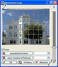 Fototipp - Verzeichnungen korrigieren- Kissenentzerrung [Screenshot: MediaNord]