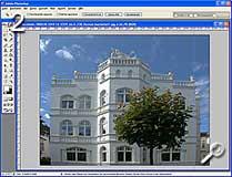 Fototipp - Verzeichnungen korrigieren - Ausgangsbild in Photoshop geöffnet [Screenshot: MediaNord]