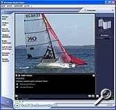 Wiedergabe einer Videosequenz mit dem Windows Media Player [Screenshot: MediaNord]