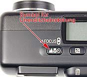 Menütaste der Nikon Coolpix700 zur Fokussierung auf Unendlich